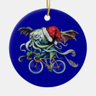 Christmas Cthulhu Ceramic Ornament