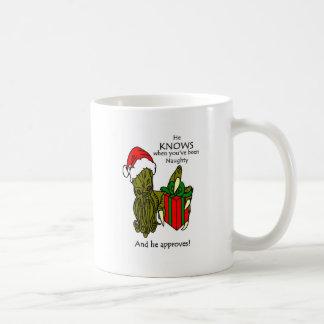 Christmas Cthulhu Coffee Mug