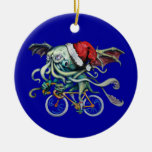 Christmas Cthulhu Double-Sided Ceramic Round Christmas Ornament