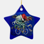 Christmas Cthulhu Double-Sided Star Ceramic Christmas Ornament
