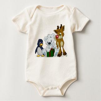 Christmas Cubs Baby Bodysuit