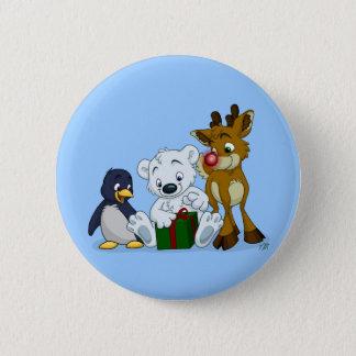 Christmas Cubs Button