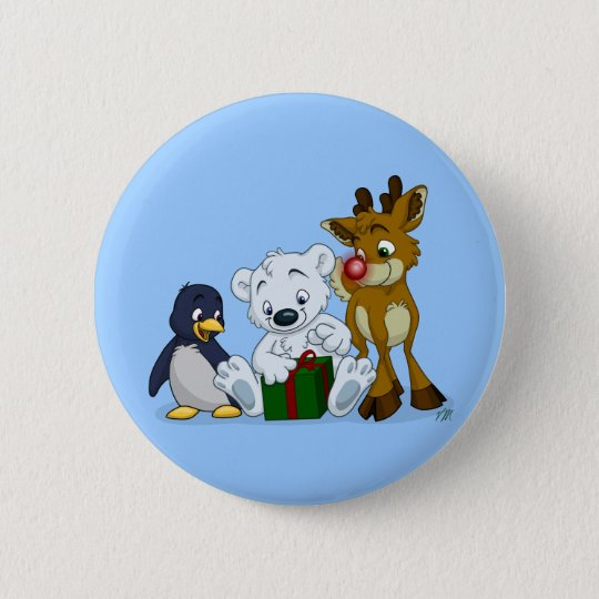 Christmas Cubs Button