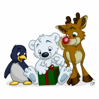 Christmas Cubs Cutout