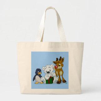 Christmas Cubs Large Tote Bag