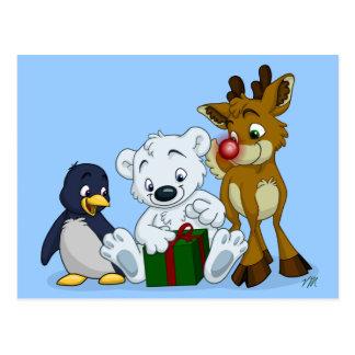 Christmas Cubs Postcard