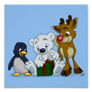 Christmas Cubs Poster