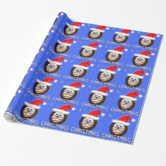christmas cuddle hedgehog wrapping paper