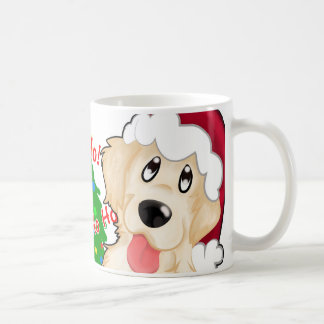Christmas cup Coffee Golden retriever/coffe cup go
