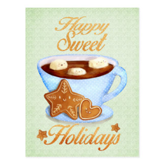 Christmas Cup of Hot Choco Postcard
