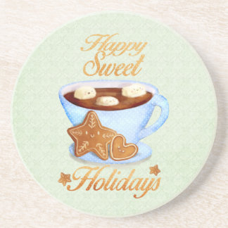 Christmas Cup of Hot Choco Sandstone Coaster