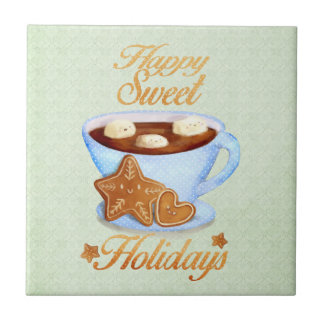 Christmas Cup of Hot Choco Ceramic Tiles