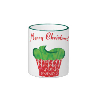 Christmas Cupcake Coffee Mugs