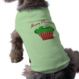 Christmas Cupcake Dog Tee Shirt