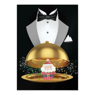 Christmas Cupcake Elegant Invitation - SRF