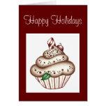 Christmas Cupcake Greeting Card Invitation