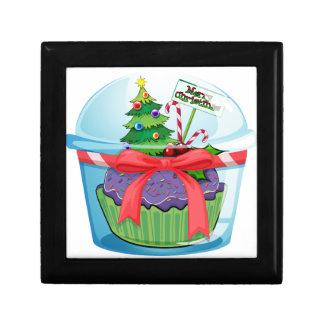 Christmas cupcake jewelry box
