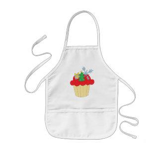 Christmas Cupcake Kids' Apron