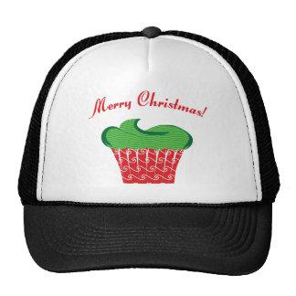 Christmas Cupcake Mesh Hat