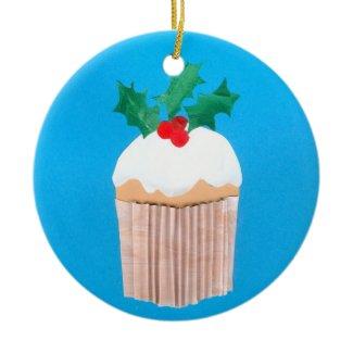 Christmas Cupcake Ornament ornament