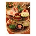 Christmas Cupcake postcard