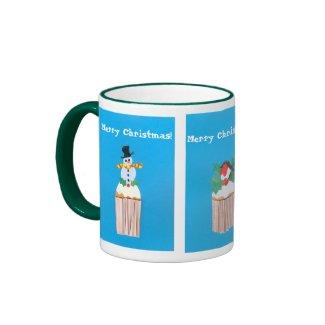 Christmas Cupcake Ringer Mug.. mug