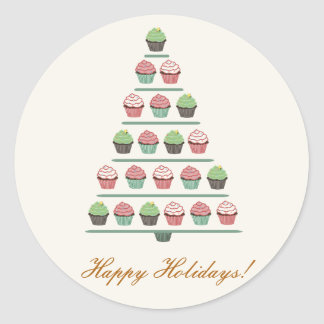 Christmas Cupcake Tree Stand Sticker