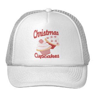 Christmas Cupcakes Mesh Hats
