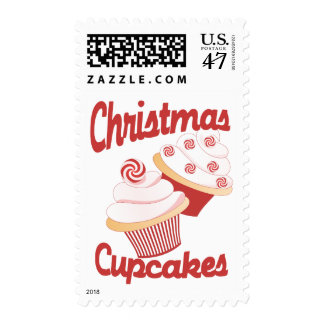 Christmas Cupcakes Postage Stamp