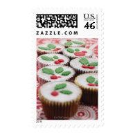 Christmas cupcakes postage stamps