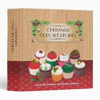Christmas Cupcakes Recipe Binder
