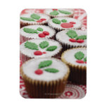 Christmas cupcakes vinyl magnets
