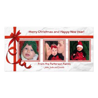 Christmas Curls Triple Treasure Custom Card
