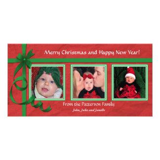 Christmas Curls Triple Treasure Photo Card
