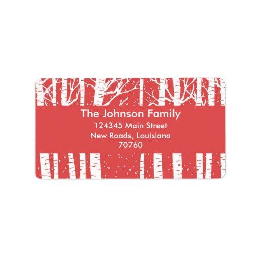 Christmas Custom Address Label