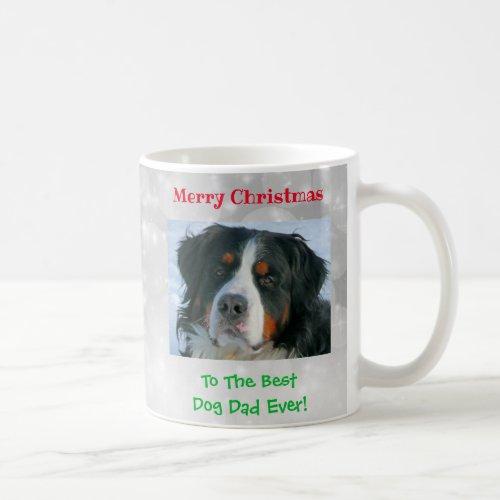Christmas Custom Best Dog Dad Ever Pet Photo Gift Coffee Mug
