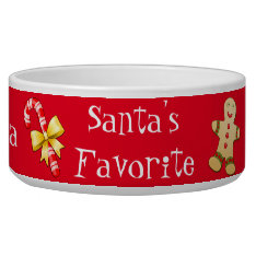 Christmas Custom Pet Bowl at Zazzle