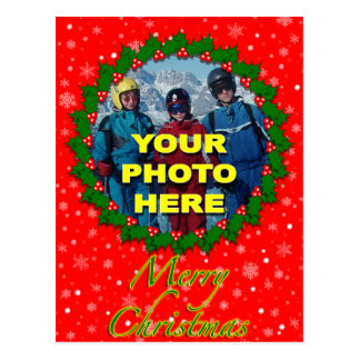 Christmas Custom Photo Postcard