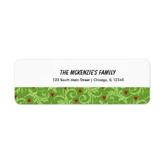 Christmas Custom Return Address Label