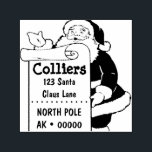 """Christmas Custom Rubber Stamp<br><div class=""""desc"""">Featuring the jolly ole St. Nick!</div>"""