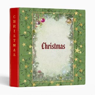 Christmas (customizable) 3 ring binder