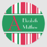 Christmas Customize Last and First Name Sticker