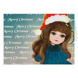 Christmas cute cartoon doll Card