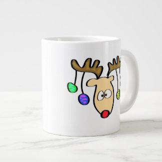 Christmas Cute Cartoon Red Nose Reindeer Extra Large Mug