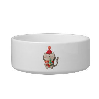 Christmas Cute Cat Bowl