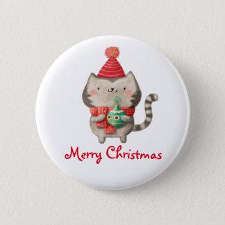 Christmas Cute Cat Button
