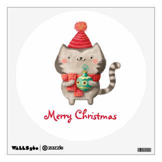 Christmas Cute Cat Wall Sticker