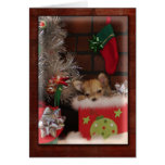 Christmas Cute Chihuahua Puppy In Box Card