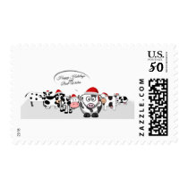 Christmas Cute Cows Happy Holidays Postage