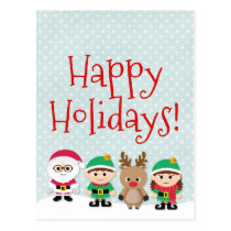 Christmas cute postcard